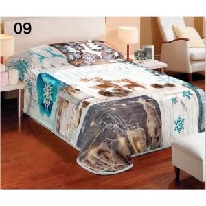 Bílé přehozy na postele v zimním stylu
