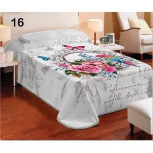 Dekorační přikrývky a deky v bílé barvě v květinovém motivu