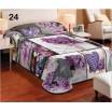 Fialové dětské deky na postel se srdcem a květy