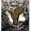 Tmavě šedá denní přehoz s motivem slona