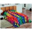 Barevná přikrývka a deka na válendu s barevnými kuličkami