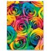 Barevná denní přehoz s motivem barevných květin
