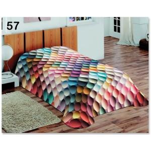 Denní barevná deka na postel s barevnými vajíčky