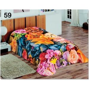 Barevné přehozy na postele se vzorem barevných květů
