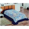 Modré deky na jednopostel s ornamenty