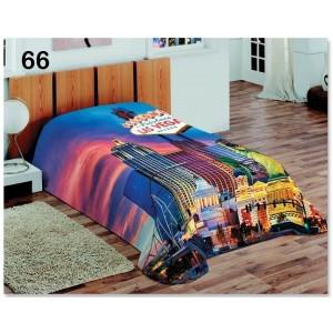 Denní barevná deka na postel v motivu Las Vegas