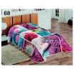 Barevné přehozy na postele s motivem barevných květin