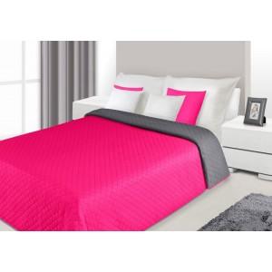 Růžové oboustranné přehozy na jednolůžka a dvoulůžka do ložnice