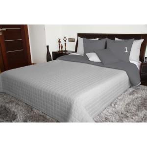 Přehoz na dvojlůžko přes postel šedý