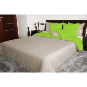 Béžové oboustranné plédy na postel