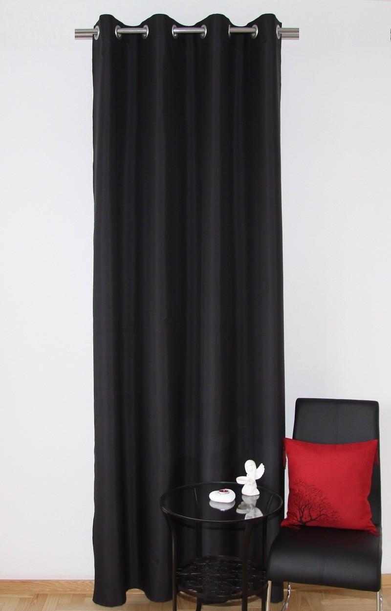 Luxusní černé hotové závěsy na okna