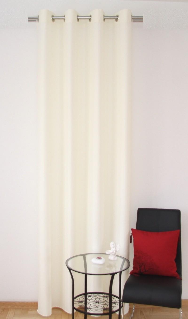 Stylový hotový krémový okenní závěs