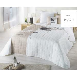 Francouzské bílé přehozy na manželskou postel