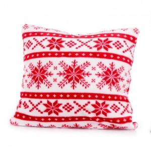 Luxusní povlak na polštářek s červeným motivem
