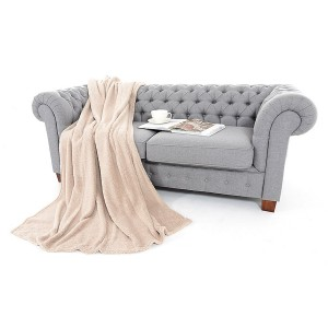 Luxusní deka v béžové barvě 150 x 200 cm