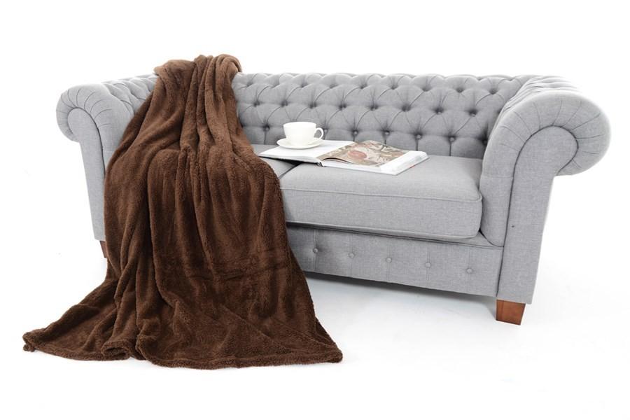 Hnědá hřejivá deka 150 x 200 cm