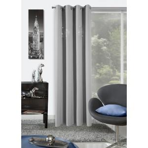 Hotové závěsy na okna světle šedé barvy