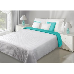 Šedé oboustranné přehozy na manželskou postel