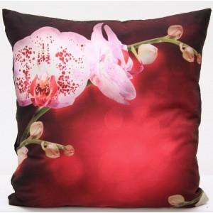 Luxusní povlak na polštář s motivem orchidej