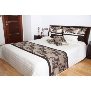 Luxusní přehozy na postel v bílé barvě s ornamenty