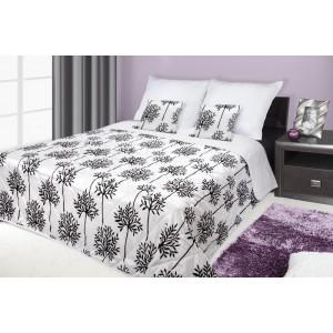 Francouzské přehozy na postel s potiskem černé barvy s květy