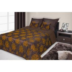 Francouzské přehozy na postel s potiskem oranžové barvy s květy