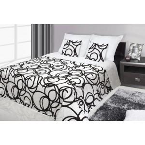 Francouzské přehozy na postel s potiskem černé barvy s ornamenty