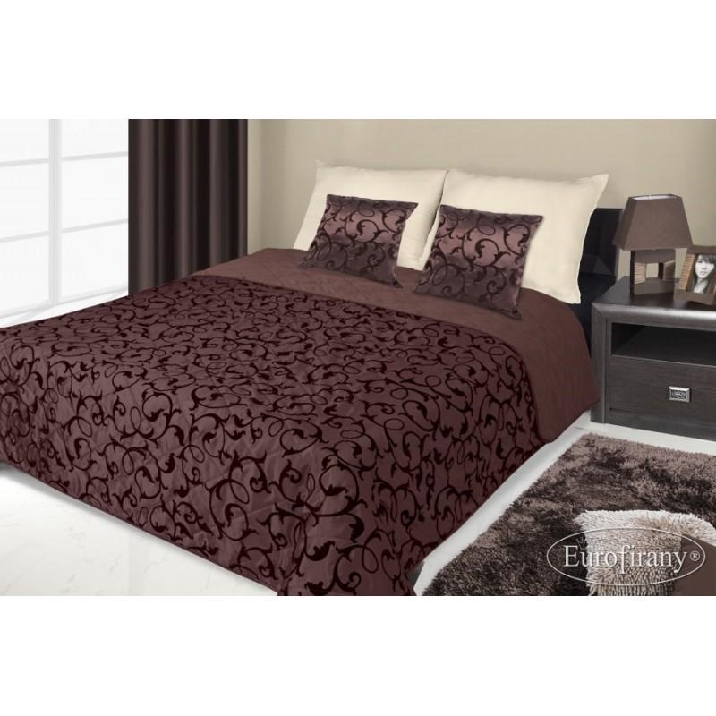 328f9dc114e2 Francouzské přehozy na postel s potiskem hnědé a černé barvy s ...