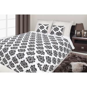 Francouzské přehozy na postel s potiskem bílé a černé barvy se vzorem