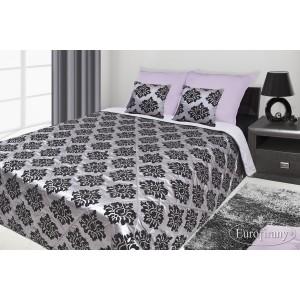 Francouzské přehozy na postel s potiskem šedé a černé barvy se vzorem