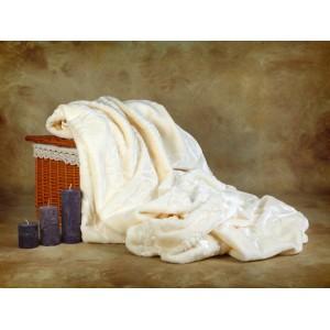 Teplé Španělské deky bílé barvy
