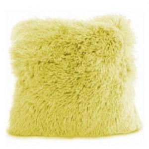 Žlutý povlak na polštář chlupatý