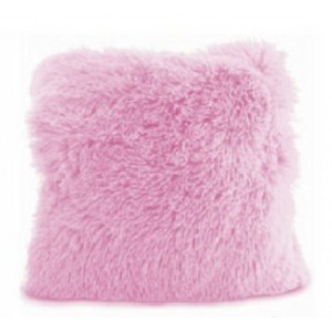 Moderní růžový chlupatý povlak