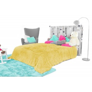 Dětská chlupatá deka žlutá