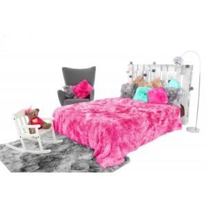 Dětská ombre chlupatá deka růžové barvy