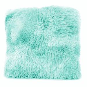 MIX chlupaté povlaky na polštáře tyrkysové