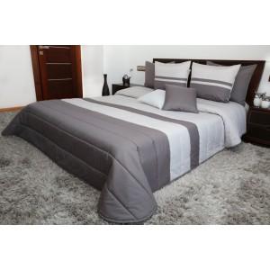 Luxusní přehozy na postel v šedých barvách
