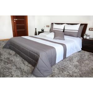 Přikrývky na manželskou postel bílo šedé barvy
