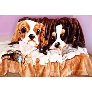 Akrylové deky 160x210 s motivem psů