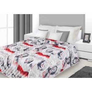 Bílo červené přikrývky na postel Marilyn Monroe
