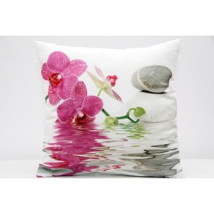 Kvalitní povlak na polštář s motivem orchidej