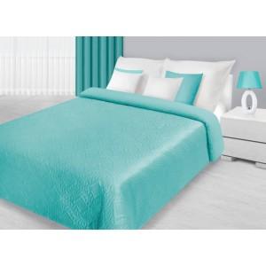 Kvalitní přehozy na postel v mentolové barvě