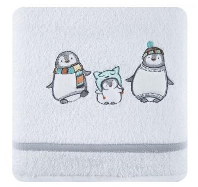 Dětské bavlnené osušky do koupelny bíle