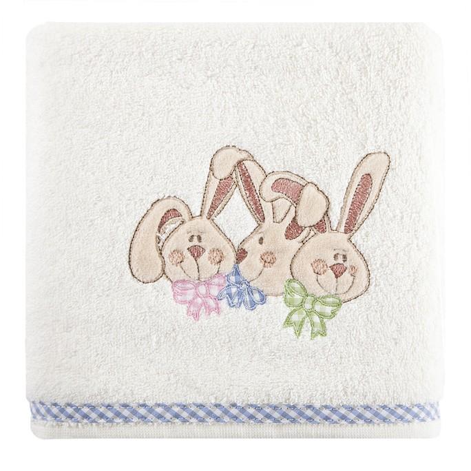 Krémové bavlnené osušky pro miminka