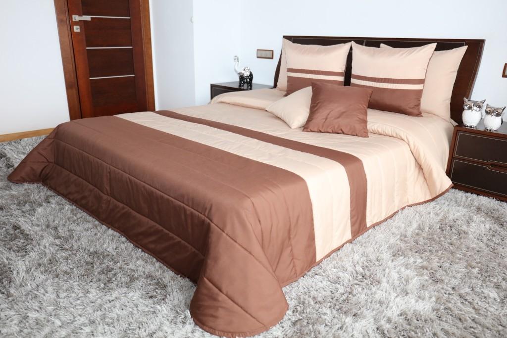 Luxusní béžové přehozy na postel