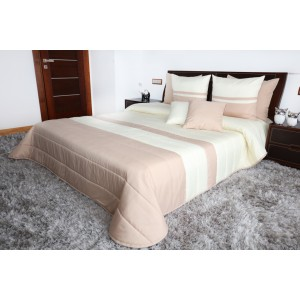 Kvalitní béžové přehozy na manželskou postel