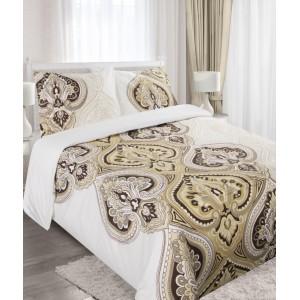 Béžové povlečení z bavlny s ornamenty