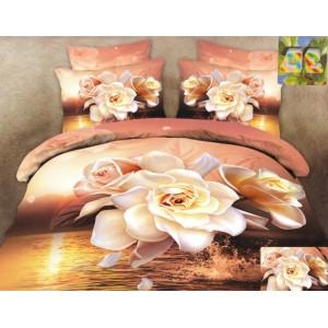 Bavlněné ložní povlečení s motivem růží