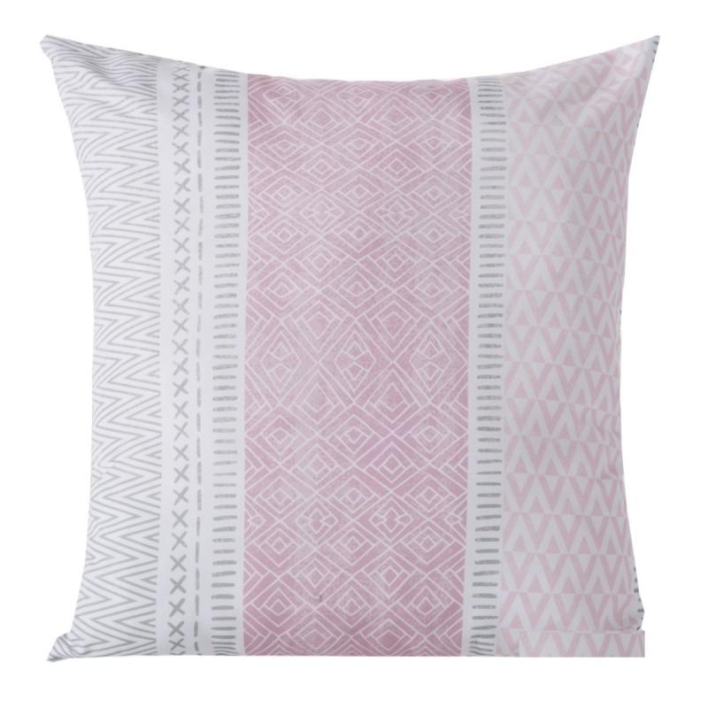 Růžové dekorační povlaky na polštáře se vzorem