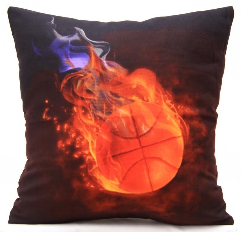 Černé ozdobné povlaku na polštář se vzorem basketbalové míče